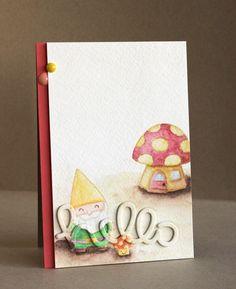 Alice Wertz: Alice's {Little} Wonderland – Gnome Sweet Gnome - 3/31/15.  (Lawn Fawn stamps: Gnome Sweet Gnome. dies- Scripty Hello).