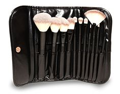 GG Beauty Premium Synthetic Makeup Brush Set 11 Piece  Cosmetics Set Kit with Black Pouch Brown * More info could be found at the image url.