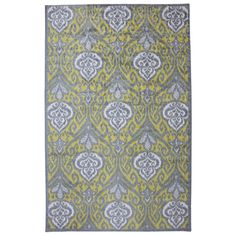 @Overstock - Yellow Ikat Rug (8' x 10') - Yellow and grey are at the top of the designer food chain.  This floral inspired rug is romantic and tranquil.    http://www.overstock.com/Home-Garden/Yellow-Ikat-Rug-8-x-10/7917777/product.html?CID=214117  $188.09
