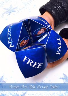 FREE PRINTABLE! Frozen Free Fall Fortune Teller! Link to printable: http://family.disney.com/activities/frozen-free-fall-fortune-teller