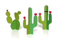 3D Cactus printable by Happythought www.printablepaperproducts.com/festival/cinco-de-mayo-printables