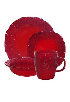 Laurie Gates Cottage Rose Red plates for wall art