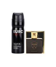 Helios Woods Gold 100 ML and Silver Deodorant 200 ML(Men Combo) #ohnineone