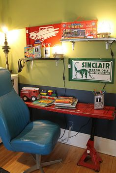 Desk Chair From Car Bucket Seat Made Truck Gate And Jacks Plastic