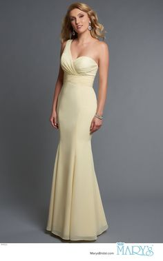 f262f188e19 Modern Maids Style M1830 • One shoulder fit and flare bridesmaid gown with  sweetheart neck line. Mary s BridalBridal ...