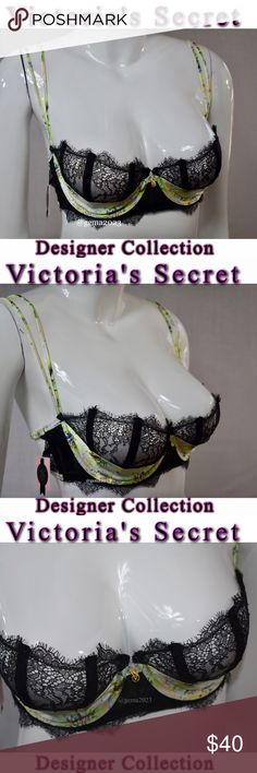 Victoria's Secret Designer collection 34D bra New with tag retail $118 plus tax Very sexy unlined Demi.Size 34D lace with satin Timeless glamour and couture details only Victoria's Secret could create.UNDERWIRE Victoria's Secret Intimates & Sleepwear Bras
