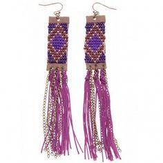 Boucles d'oreilles bohème - #bijoux #tendance  #mode #earring #jewelry #femme #fashion #milenamoda  www.milena-moda.com