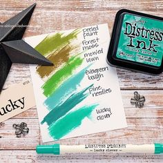 Lucky Clover Distress Ink Swatch. A Blog Called Wanda.