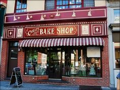 Carlos Bake Shop  in Hoboken, New Jersey. After seeing the TV series and the amazing cakes and baked goods, i would have to make a stop and get something. Cake Boss Bakery, The Bakery, Carlos Bakery Cakes, Bakery Store, Oh The Places You'll Go, Places To Travel, Places Ive Been, Places To Visit, Custom Cakes