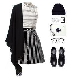 """Stripes on stripes"" by vendre-du-reve ❤ liked on Polyvore featuring Antonia Zander, Kate Spade, Zara, NARS Cosmetics and Acne Studios"