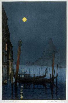 hanga gallery . . . torii gallery: Grand Canal, Venice by Yoshijiro Urushibara