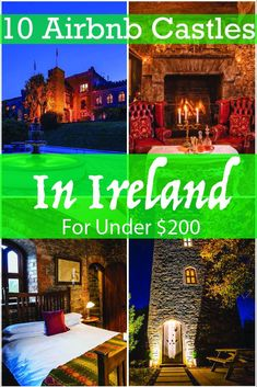 Why stay in hotels in Ireland when you can stay in a castle for the same or less? These unique Airbnb hidden gems will solve your problem of where to stay in Ireland. Travel Around Europe, Travel Around The World, Unique Hotels, Stay In A Castle, Honeymoon Getaways, West Coast Of Ireland, Castles In Ireland, Europe On A Budget, Ireland