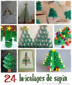 Pour occuper les enfants en attendant Noël, voici 24 idées d'activités manuelles de noel sur le thème du sapin. De quoi ravir petits et grands ! Noel Christmas, Christmas Crafts, Xmas, Christmas Ornaments, Paper Christmas Decorations, Holiday Decor, Diy For Kids, Crafts For Kids, Christmas Activities For Kids