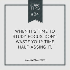 Study tip - need to do it!