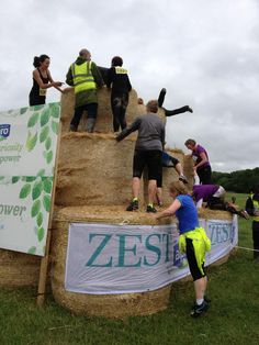 Zesties tackle the hay bales at Catton Hall Picnic Blanket, Outdoor Blanket, Get Healthy, Cosmos, Fitness Inspiration, Challenges, Hay Bales, Space, Picnic Quilt
