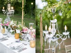 """Outdoor-chandeliers-at-Spanish-garden-wedding"""