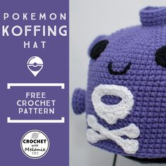 78fdfcf1261 Pokemon Koffing Hat - Free Crochet Pattern  pokemon  pokemongo  koffing   crochet  crocheting  freepattern