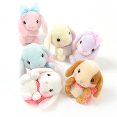 "The sweet bunnies of the Pote Usa Loppy character line from Amuse got all dressed up, and in their little bows, they're sure to win over your heart! These standard-sized plushies are approximately 5.5"" by 4.7"" by 3.9"", and the adorable lineup includes Shiroppy, Sumire-chan, Mimipyon, Sorapyon, Pochipyon, and Pyoppy, but if you can't choose your favorite or you don't want to separate them, they're also available in a complete set! If you'd prefer something larger or smaller, they're also…"