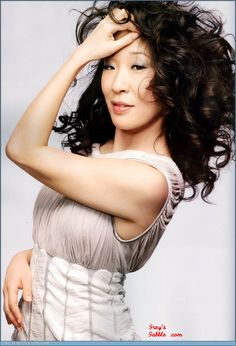 Sandra Oh - She's Canadian you know (my husband's heard that more than I'd like him to admit)