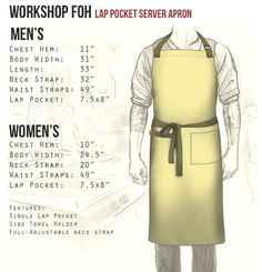 Our customizable Workshop Server Apron allows you to pick your denim color, strap color, and cut. Built from premium denim (light/med weight) with double-stitch