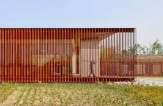 Vector Architects, Eco-Farm Series, Kunshan, Yong Cheng Lake, Yuefeng Iceland, Visitor Center, 2014 Shu Hey Photo