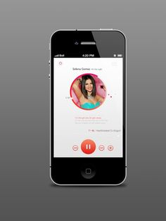 music player in white by joycelingna