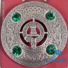 MacLean Clan Crest Plaid Brooch. Free worldwide shipping available