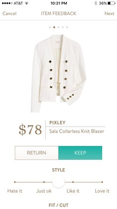 Dear SF Stylist. This Knit blazer looks perfect and  comfy plus neutral color will go with everything.