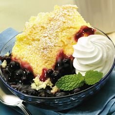 Lemon Blueberry Pudding Cake - The Pampered Chef®  www.pamperedchef.biz/carolallen for all your Pampered Chef needs