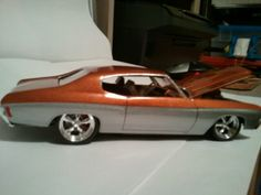 #BecauseSS toy burnt orange and grey chevelle.  72 chevelle