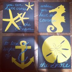 "Nautical Canvas  ""You can never cross the Ocean unless you have the courage to lose sight of the shore"""