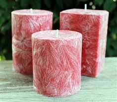 Made from natural palm wax - scented in Cinnamon Red Hots and available in several different sizes. Scented Wax, Handmade Candles, Pillar Candles, Cinnamon, Palm, Candle Holders, Nice, Natural, Hot