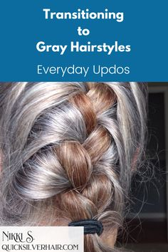 Transitioning to Gray Hairstyles: Everyday DIY Updos how-tos, videos, pictures & accesories. Cute updos hairstyles for the days you have to put it up. #howtodohairstyles #hairstylesupdos #coolhairstyles Twist Hairstyles, Everyday Hairstyles, Straight Hairstyles, Cool Hairstyles, Bad Hair, Hair Day, One Length Hair, Rockabilly Looks, Side Ponytails