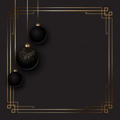 Elegant Christmas Background With Baubles Eid Wallpaper, Black Background Wallpaper, Poster Background Design, Framed Wallpaper, Background Images, Wallpaper Backgrounds, Vector Background, Background Patterns, Snowflake Background