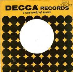 Decca - USA - 1962 by Affendaddy, via Flickr