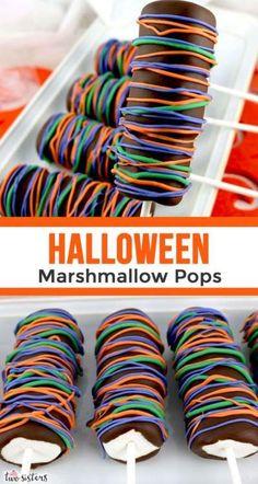 Halloween Desserts, Recetas Halloween, Hallowen Food, Halloween Goodies, Halloween Food For Party, Halloween Candy, Halloween Chocolate, Marshmallow Halloween, Halloween Baking