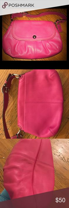 Perfect Pink Spring Coach Bag Perfect spring pink Coach Bag never worn! Coach Bags Shoulder Bags