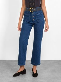 98dea0478f0 APIECE APART PRE FALL 18 Denim Marston Pant Blue Denim