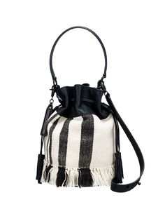 Loeffler Randall SS16 - Industry Bag in Striped Canvas Striped Canvas, Anna  Wintour, Fringe 146a11f2f6