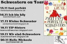 """🎀[Blogtour]🎀   💖Zwei fast perfekte Schwestern💖  Heute ist der zweite Tag zur Blogtour zum Buch """"Zwei fast perfekte Schwestern"""" von Michaela Grünig - Autorin aus der Verlagsgruppe Droemer Knaur. Wir haben heute Lily zu Besuch, die uns etwas über sich erzählt.  http://buechertraum.com/blogtour-zwei-fast-perfekte-schwestern/  .#Blogtour #Schwestern #DroemerKnaur  Eure Svenja"""