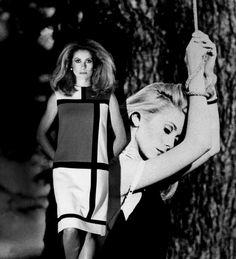 """Catherine Deneuve on promotional tour for """"Belle de Jour"""", by Luis Bunuel [1967]"""