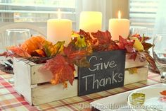 Love this Thanksgiving Centerpiece