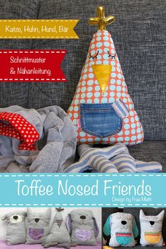toffee nosed friends, buy a creative ebook at farbmix! Toffee, Softies, Free Books, Have Fun, Friends, Toys, Animals, Shrimp Recipes, Blog