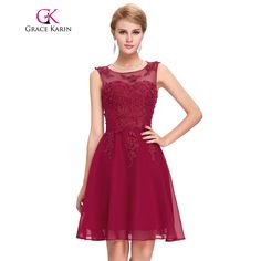 Cheap bridesmaid dresses, Buy Quality wedding dresses bridesmaids dresses directly from China wedding bridesmaid dress Suppliers: Grace Karin Bridesmaid Dresses Short Party Vestidos Sleeveless Appliques Beading Kneed Length Wedding 2017 Bridesmaid dress
