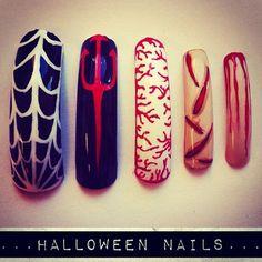 35 Ideas para pintar tus uñas de Halloween   Decoración de Uñas - Nail Art - Uñas decoradas