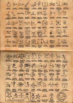 Gates of Hell Mystic Symbols, Wiccan Symbols, Symbols And Meanings, Alphabet Code, Alphabet Symbols, Glyphs Symbols, Ancient Alphabets, Ancient Symbols, Mayan Symbols