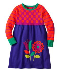 Love this Grape Juice Spirits Bright Sweater Dress - Infant, Toddler & Girls by Hanna Andersson on #zulily! #zulilyfinds
