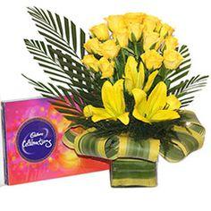 Joyous Yellow Basket