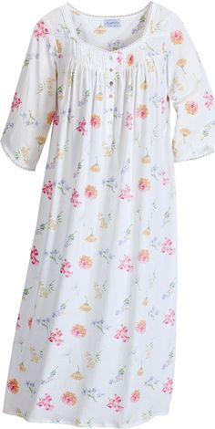 Women's Lanz Tossed Floral Print Nightgown