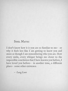 Soul Mates quote. Young love! True love quote. Marriage quote